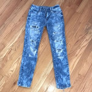 American Eagle ripped jeans, size 00 regular